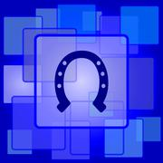 Stock Illustration of Horseshoe icon. Internet button on abstract background..