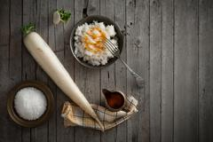 Daikon Radish Salad Stock Photos