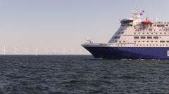 Crown Seaways leaves Copenhagen - stock footage