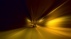 Time machine effect down tunnel Stock Footage