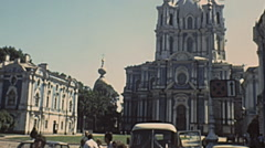 Leningrad 1987: Smolny Cathedral Stock Footage