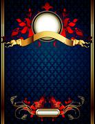 Ornate frame Stock Illustration