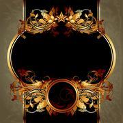 ornate frame - stock illustration