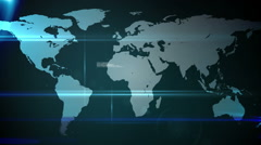 Online global community screen Stock Footage