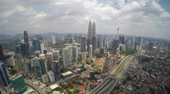 Kuala Lumpur from aerial view Stock Footage