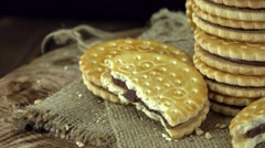Cream Cookies (seamless loopable) Stock Footage
