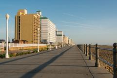 Early Morning on Virginia Beach - stock photo