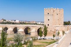 The Calahorra Tower in spanish Cordoba Stock Photos