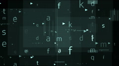 Digital word Stock Footage