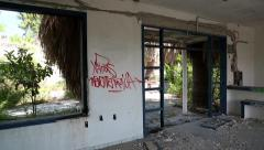 Interior of abandoned hotel Arkistovideo