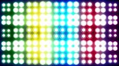 Led Light Flashing Colorful Background Stock Footage