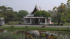 Sukhothai Wihan at Ancient Siam Park in Samut Prakan, Thailand Stock Footage