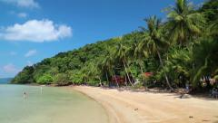 Beautiful view of the Koh Wai island in Thailand Stock Footage