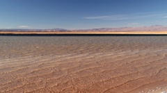 Waves at the salt lake Laguna Cejar in San Pedro de Atacama, Chile. Stock Footage