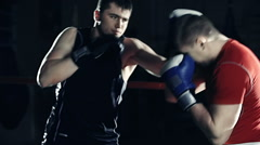 Fight Round Stock Footage