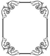 Stock Illustration of simple decorative frame