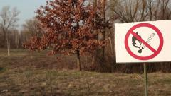 Do not kindle a fire in the forest - stock footage