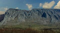 Remetea village and Piatra secuiului clouds time lapse 4K Stock Footage