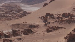 Clay and salt formations of the Moon valley in San Pedro de Atacama, Chile. - stock footage