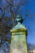 bust of Nicolai Lauritz Hvidt - stock photo