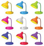 Table lamp, set - stock illustration