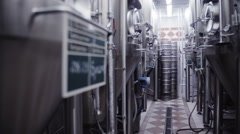 modern German brewery laboratory production - stock footage