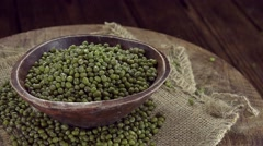 Portion of Mung Beans (seamless loopable) Stock Footage