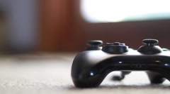 Video Game Controller Lying on Floor 2 Stock Footage