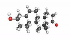 Dehydroepiandrosterone (DHEA), rotating model Stock Footage