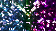 Broadcast Twinkling Squared Diamonds, Multi Color, Abstract, Loopable, HD Stock Footage