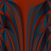 Orange blue abstract fractal wallpaper Piirros