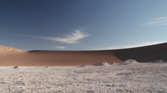 Clay and salt formations of the Moon valley in San Pedro de Atacama, Chile. Stock Footage