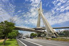 The Octavio Frias de Oliveira Bridge in Sao Paulo, Brazil Stock Photos