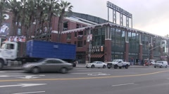 Stock Video Footage of Drive by AT&T park