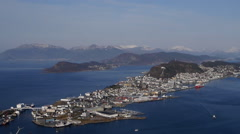 Aalesund, Norway, from  Sukkertoppen Stock Footage
