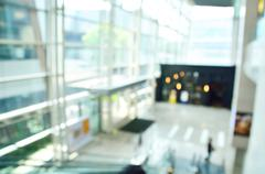 Defocus or Blurred Background of Lobby of Modern Office Building Stock Photos
