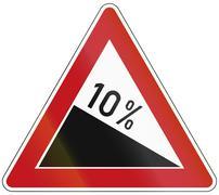 Decline 10 Percent Stock Illustration