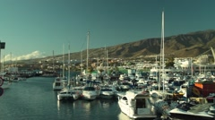 Yachts in yachtclub time lapse Stock Footage