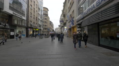 Belgrade Art Hotel on Prince Mihailo Street in Belgrade Stock Footage