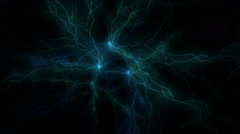 Blue Electrical discharge Stock Footage