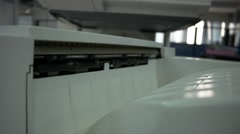 Laserprint Machine Printing Documents Stock Footage