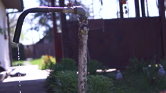 Old Dripping Faucet.Concept Of Water Wastage Stock Footage
