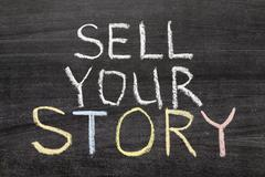 sell your story - stock photo