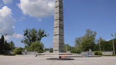 Memorial to 1200 guardsmen in Kaliningrad Stock Footage