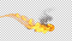 Realistic stream of fire like fire-breathing dragon's flames with alpha. Stock Footage