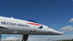 Stock Video Footage of British Airways Concorde Exterior