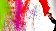 Paint Splatter Slow Motion Stock Footage