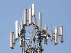 Antenna repeater tower Stock Photos