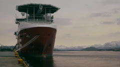 The Far Sleipner moored in Ålesund, Norway Stock Footage