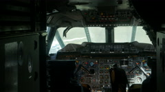 British Airways Concorde Flight Deck Stock Footage